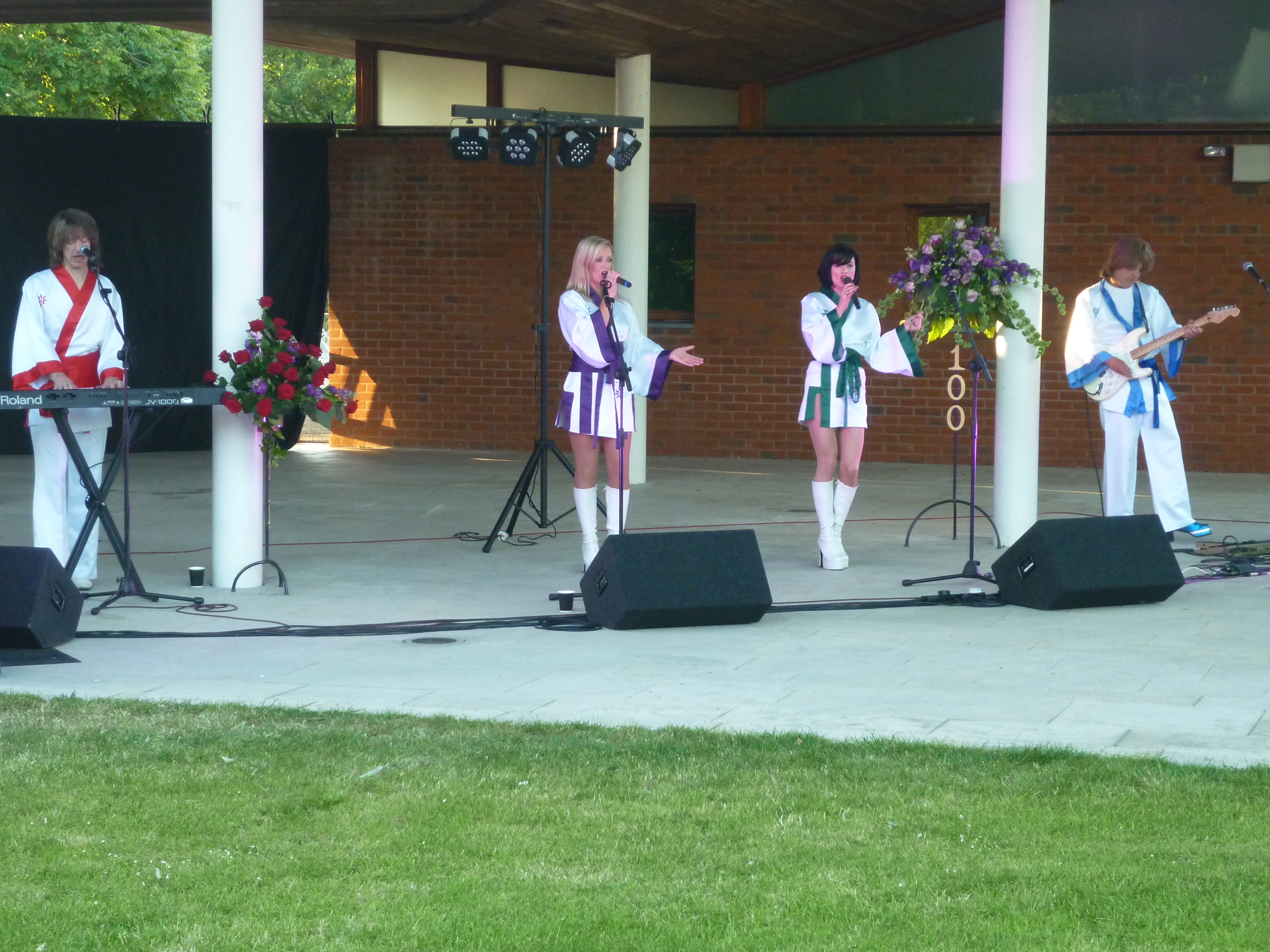 Abba Tribute performing at WI Centenary Event, Hillier's (2)