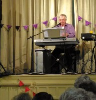 Richard Smith provides the entertainment at Twyford WI Birthday Party 2015