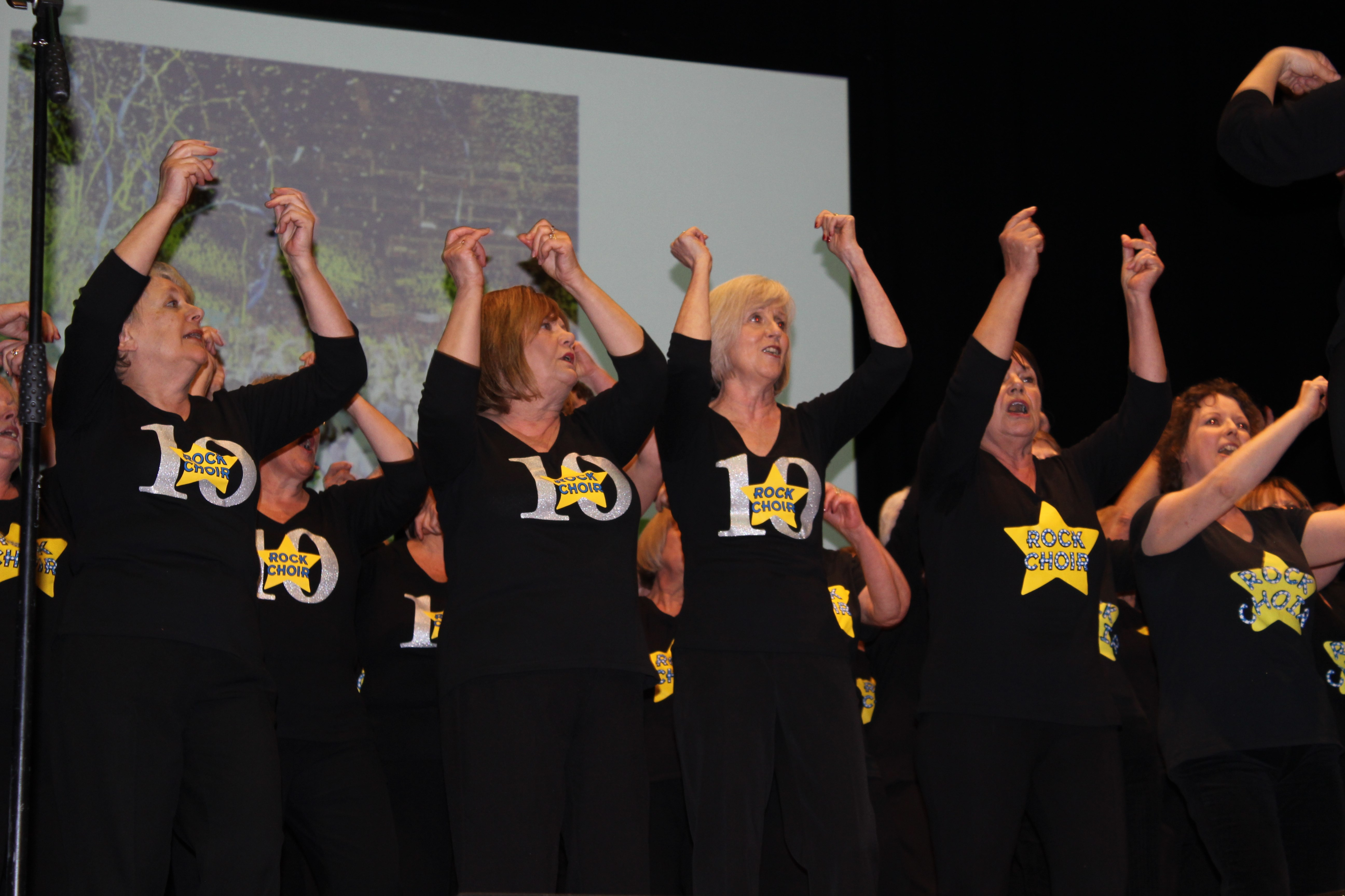 Rock Choir Performing at the Spring Council Meeting