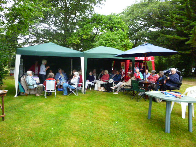 July meeting and BBQ in the rain!