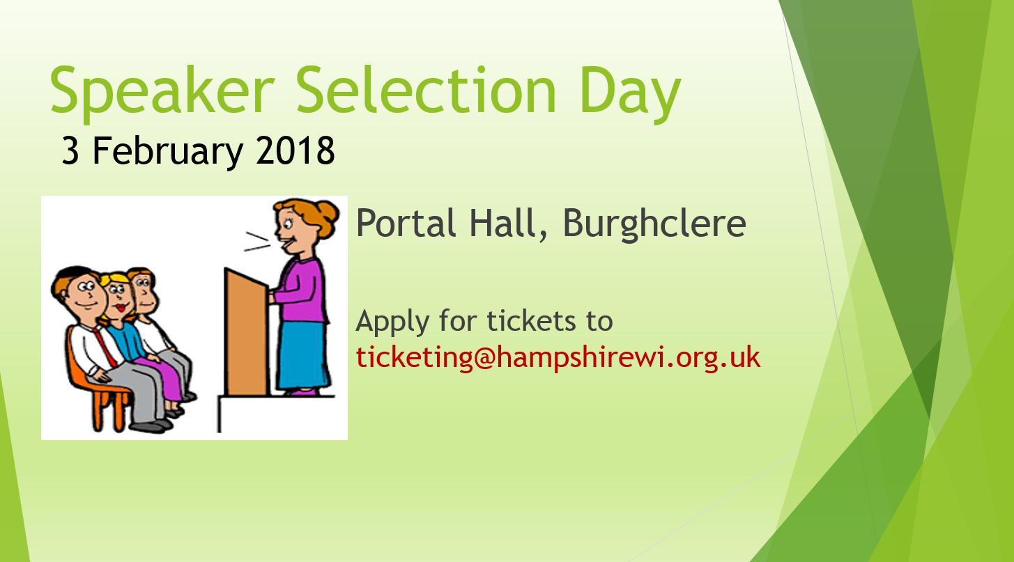 Speaker Selection Day Feb