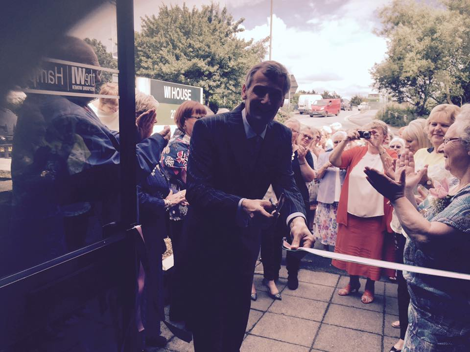 WI House Open Day – Nigel Atkinson Cutting Ribbon