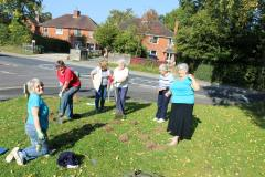 our ladies planting crocus bulbs in October 2015. watch this space for the flowers in 2016
