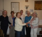Team winners being presented.