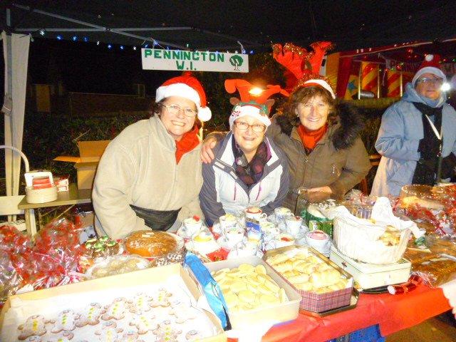 Pennington WI Christmas fayre stall