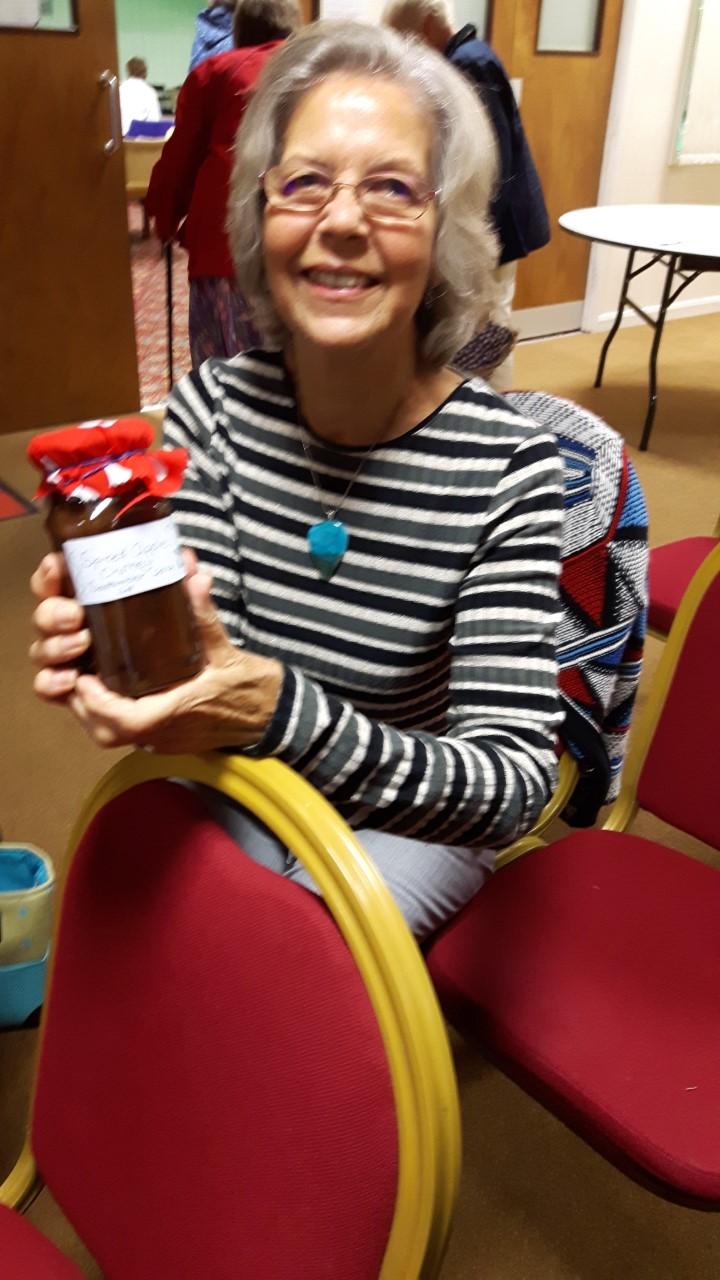Marianne's winning chutney at Loddon Group meeting