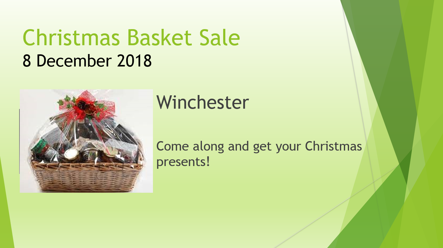 Christmas Basket Sale