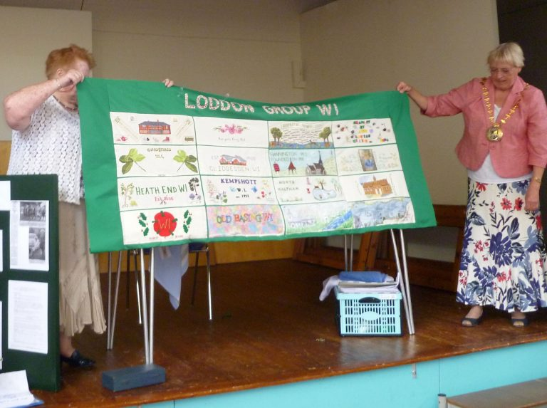 WI Loddon Group Embroidered Cloth