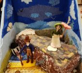 2017 craft group entry for Romsey Show on the theme of a Jane Austen book (Persuasion)