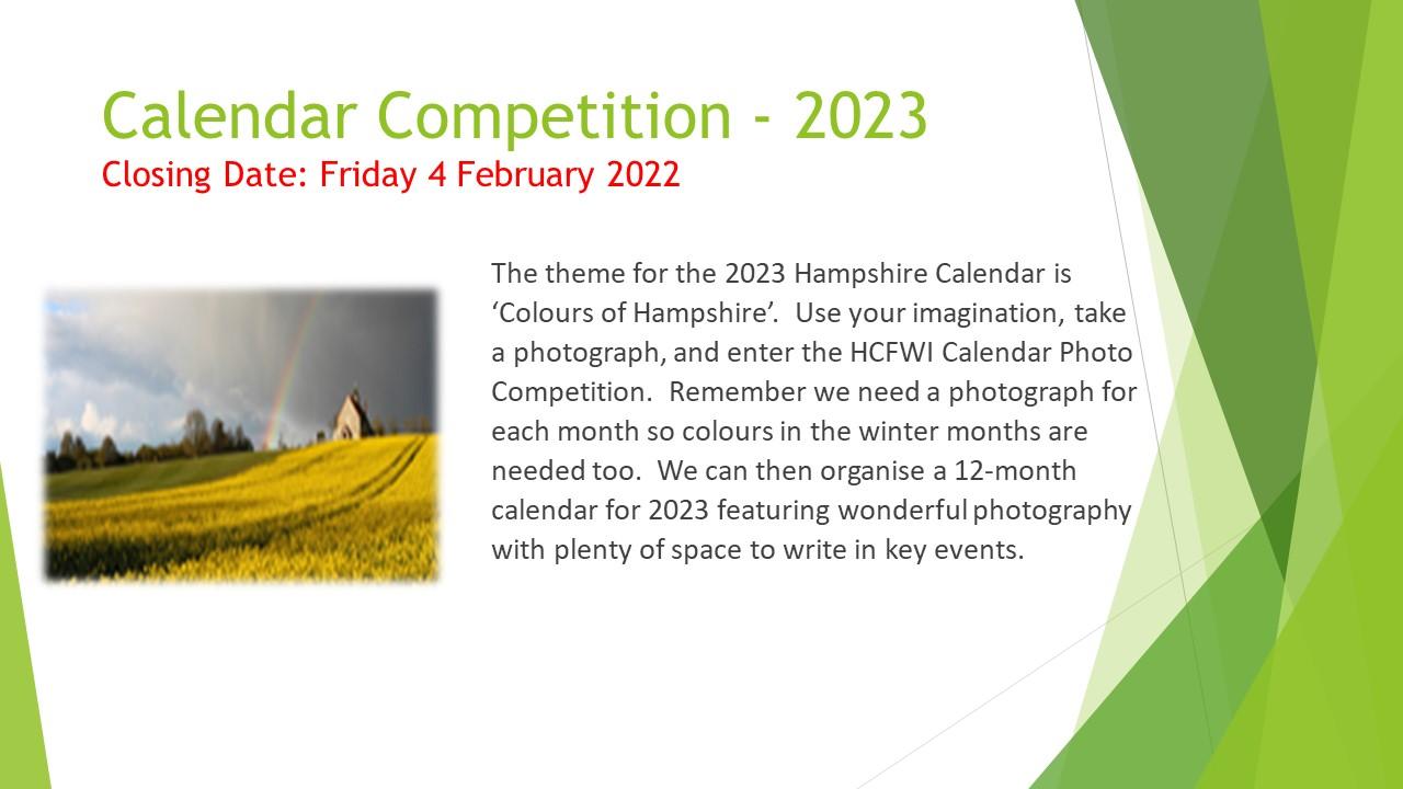 Calendar Comp 2023