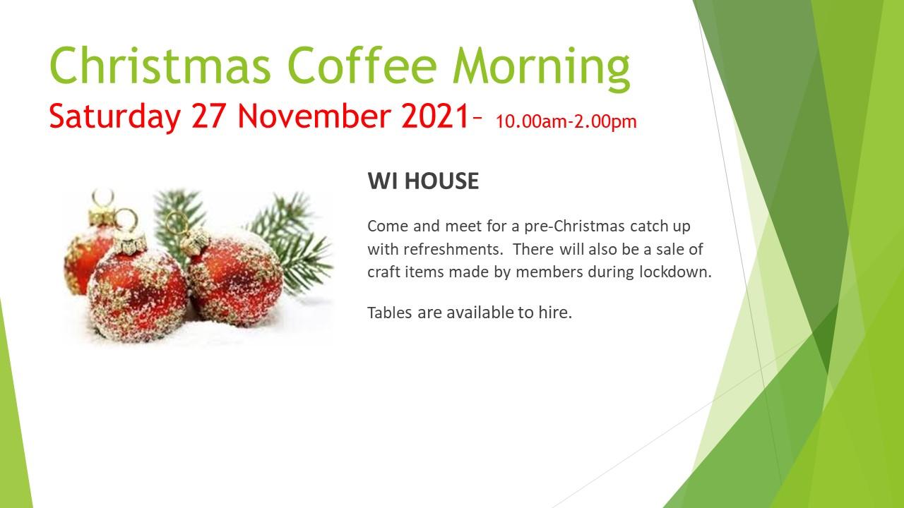 Christmas Coffee Morning nov 2021