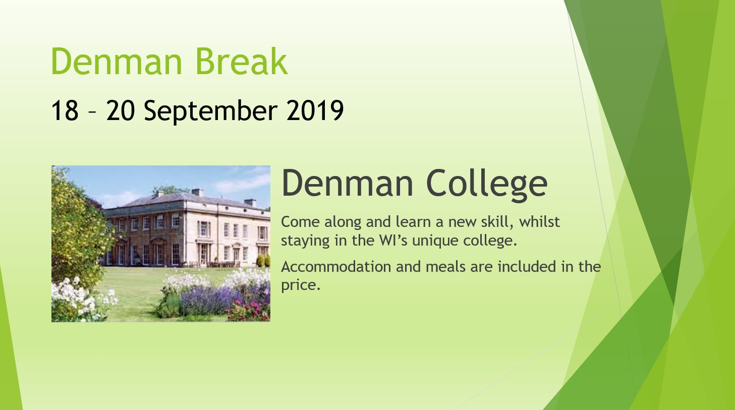 Denman Break