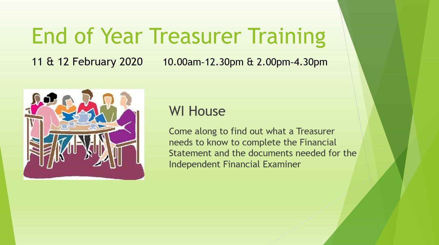 End of Year Treasurer Training