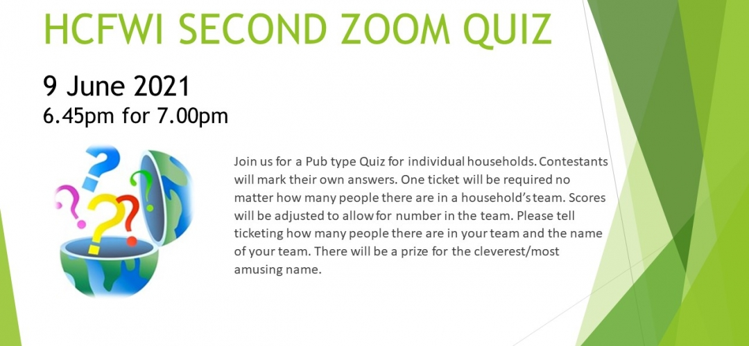 HCFWI Second Zoom Quiz