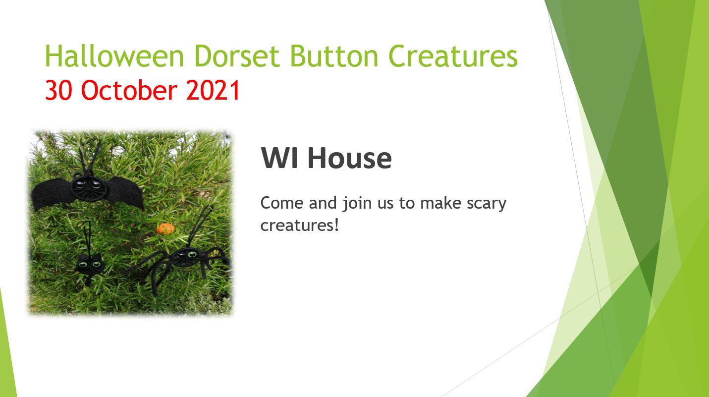 Halloween Dorset Button Creatures