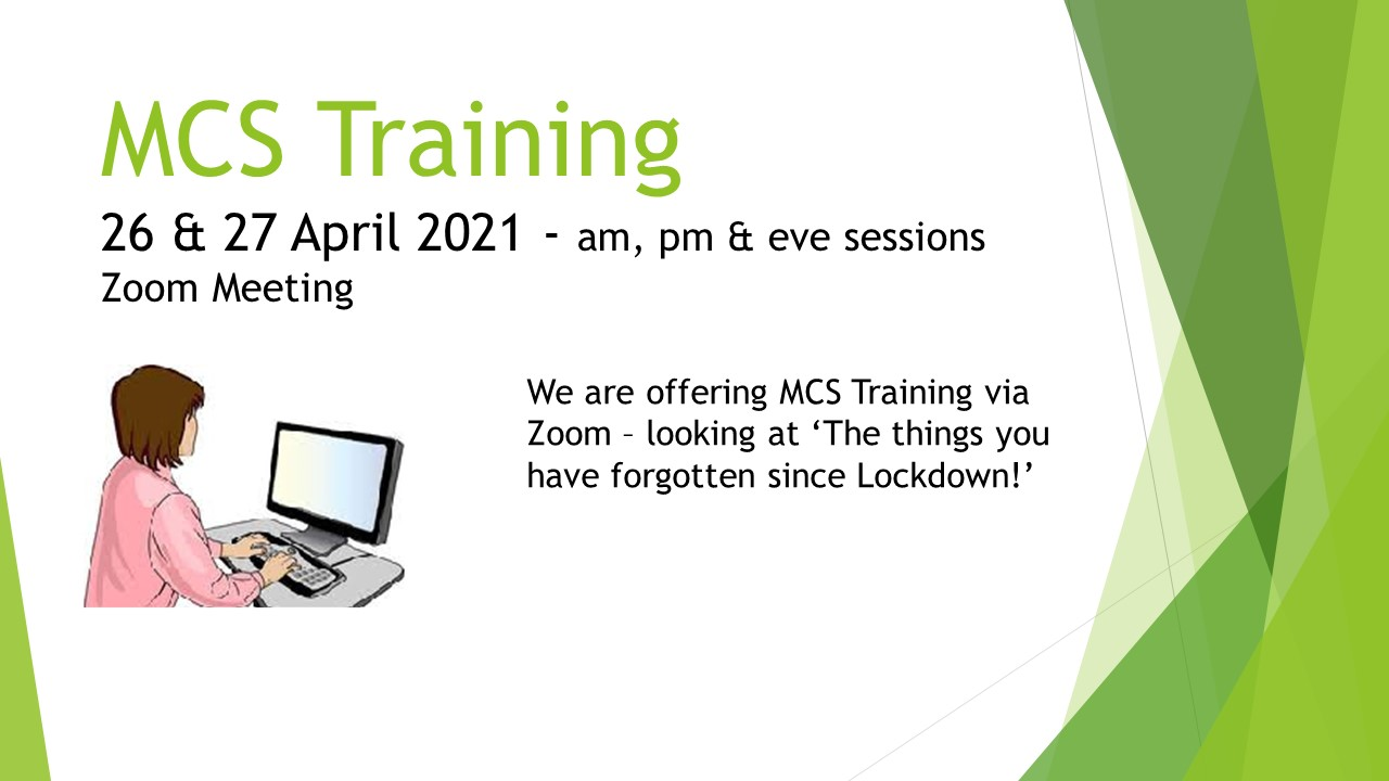 MCS Training April 2021