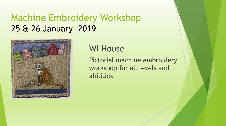 Machine Embroidery Workshop