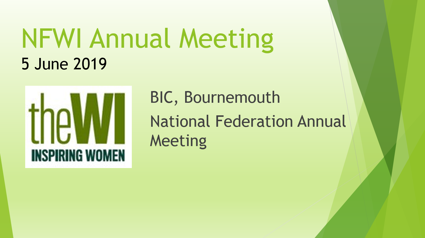 NFWI Annual Meeeting