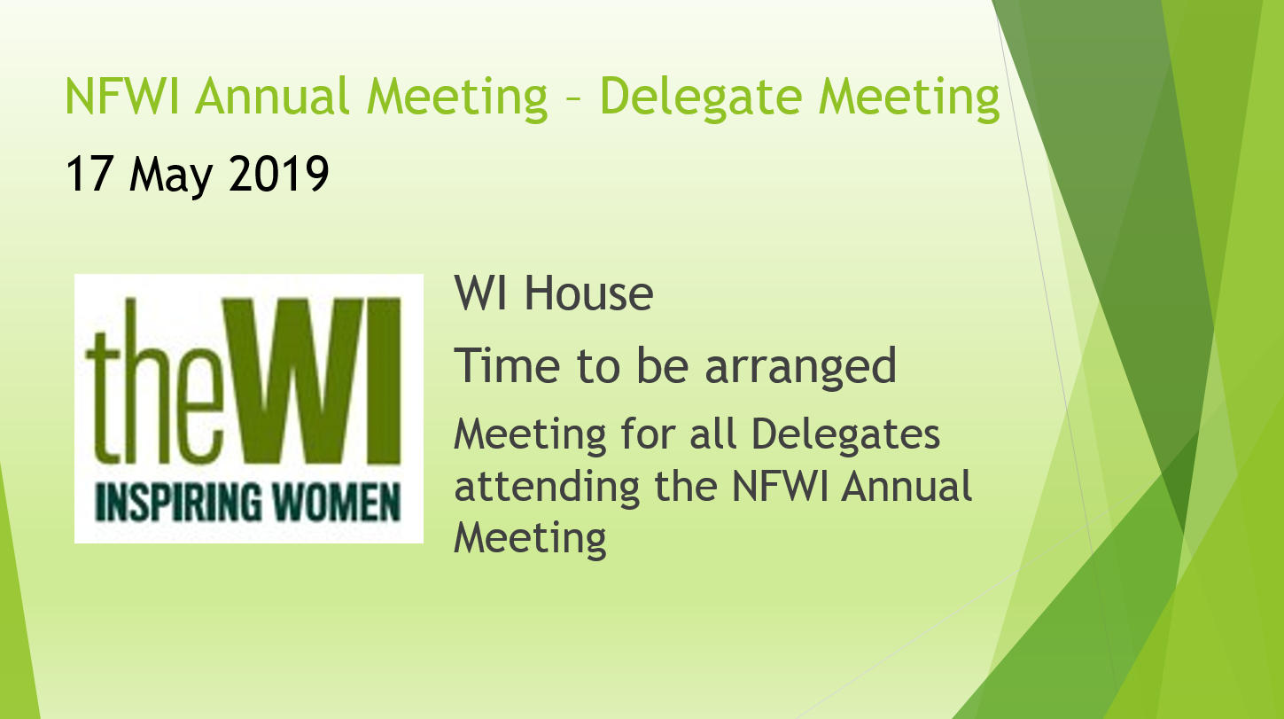 NFWI Annual Meeting Delegate