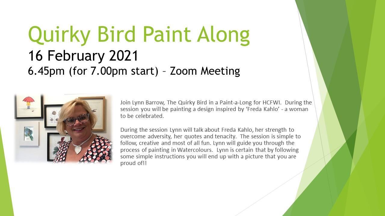 Quirky Bird Paint Along