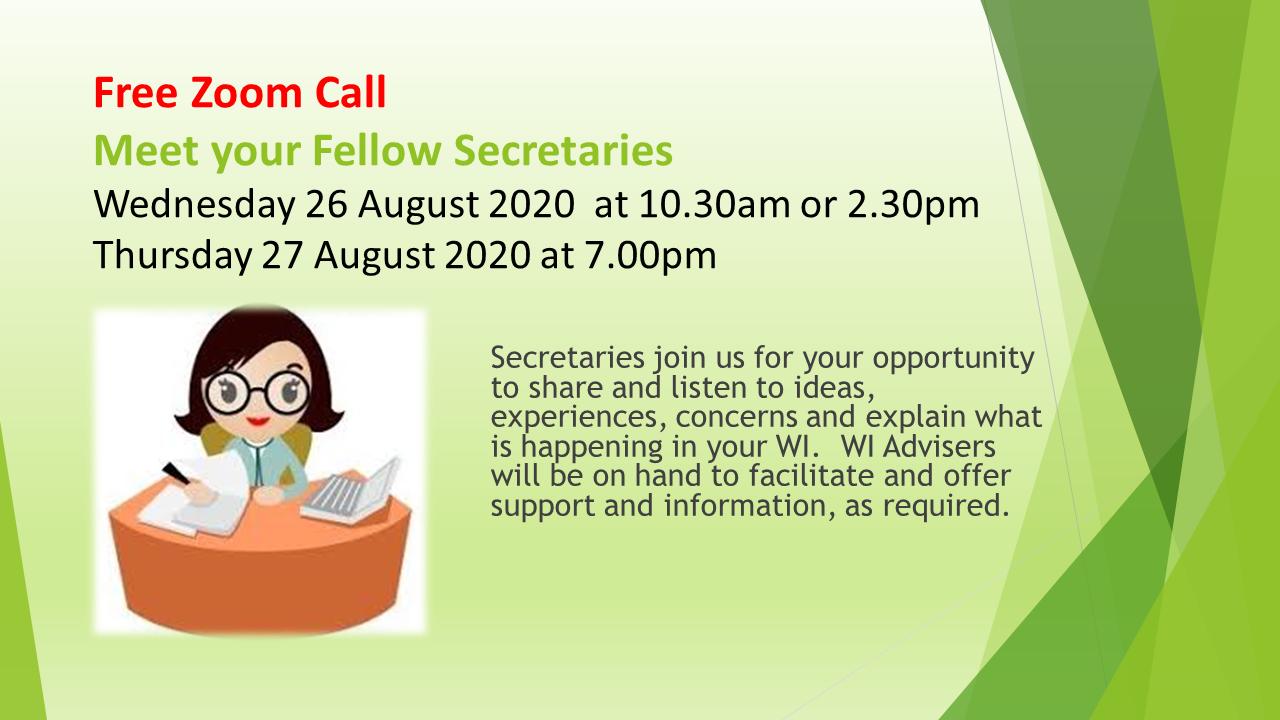 Secretaries Free Zoom Call