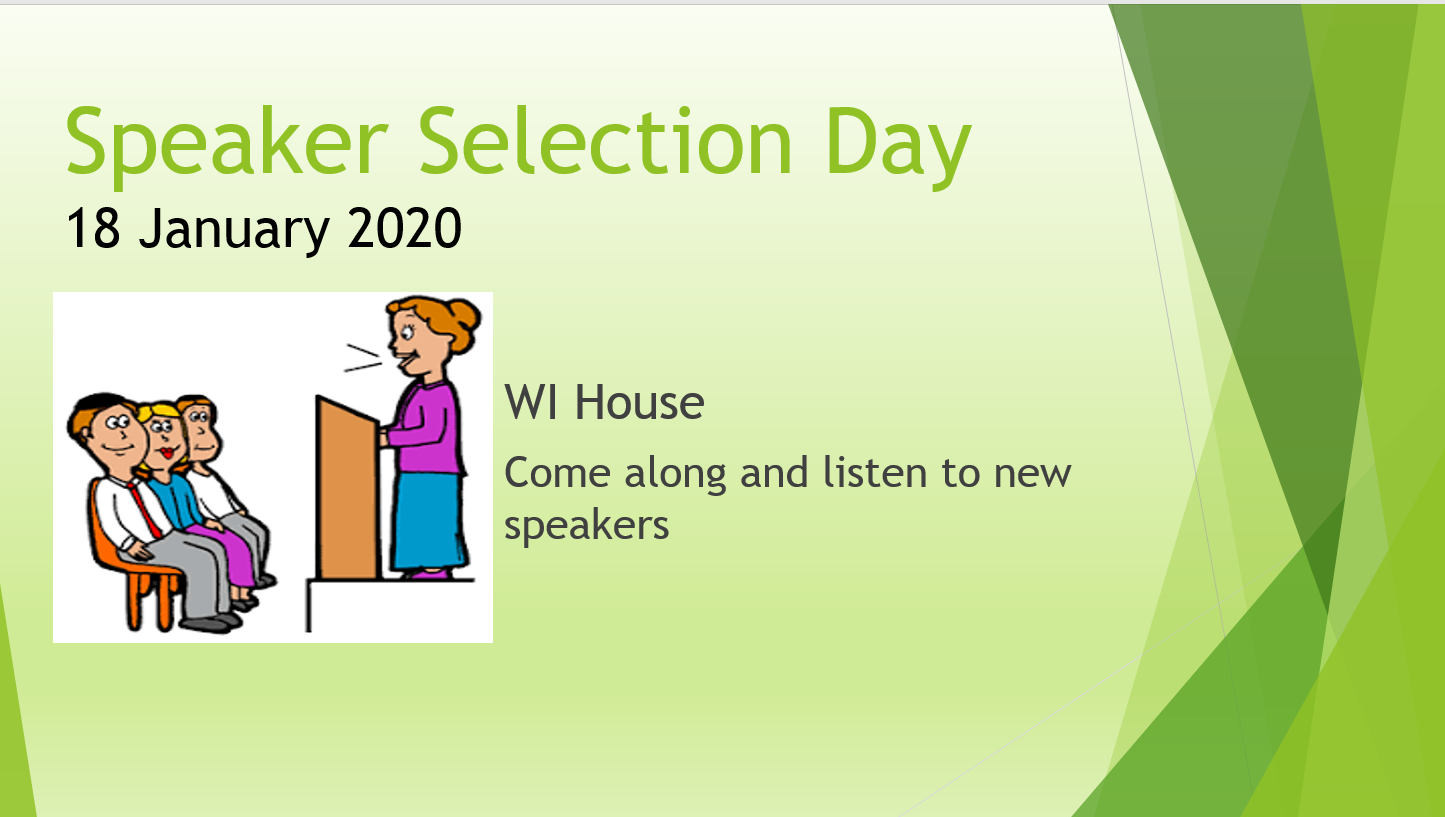 Speaker Selection Day Jan