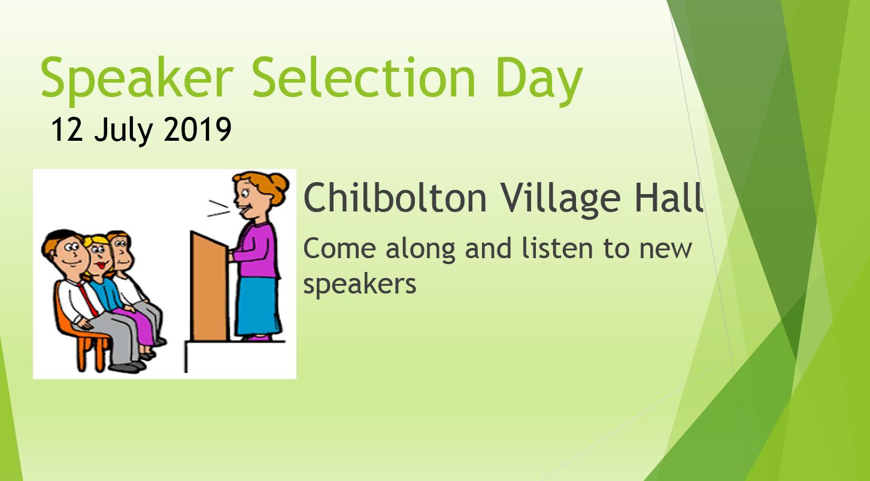 Speaker Selection Day Jul