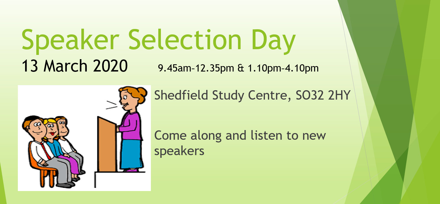 Speaker Selection Day Mar