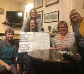 Abbotswood Romsey WI Skittles Team - winners of the Test Valley skittles heat in October 2018