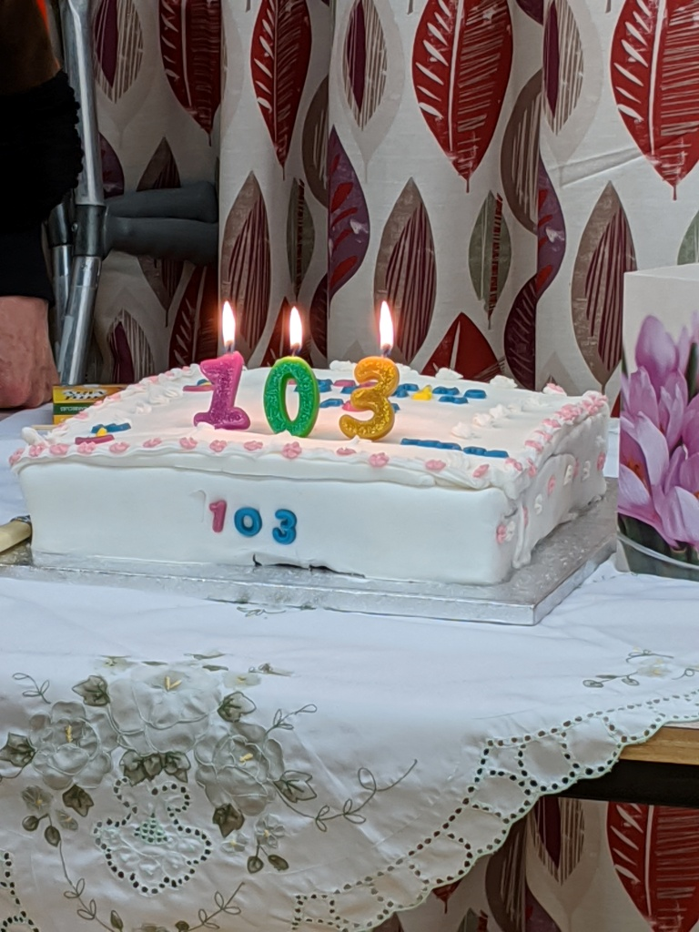 103rd Birthday Cake